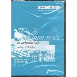 Schubert, Franz: Die Winterreise : 3 Playalong-CD's für mittlere Stimme