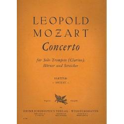 Mozart, Leopold: Konzert für Solo-Trompete (Clarino), Hörner und Streicher Partitur