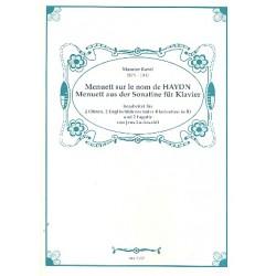 Ravel, Maurice: 2 Menuette : für 2 Oboen und 2 Englischhörner (2 Klarinette und 2 Fagotte), Partitur und Stimmen