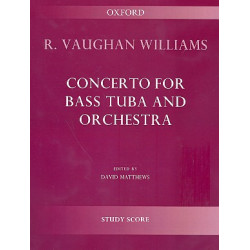 Vaughan Williams, Ralph: Concerto for bass tuba and orchestra study score