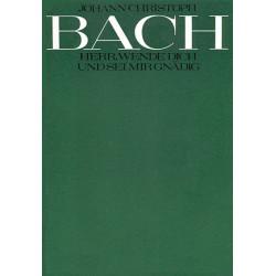 Bach, Johann Christoph: Herr wende dich und sei mir gnädig Dialog für 4 Solostimmen und Instrumente, Partitur (dt/en)