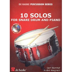 Bomhof, Gert: 10 Solos (+CD) : for snare drum and piano