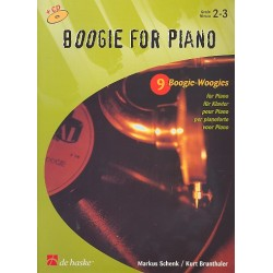 Schenk, Markus: Boogie for Piano (+CD) : 9 Boogie-Woogies für Klavier