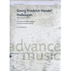 Händel, Georg Friedrich: Hallelujah : für Saxophon-Ensemble und Orgel Partitur und Stimmen