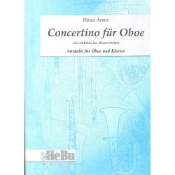 Arenz, Heinz: Concertino für Oboe und Blasorchester : für Oboe und Klavier