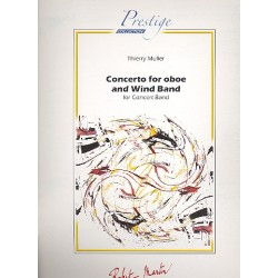 Muller, Thierry: Concerto for oboe and Wind Band : for concert band score