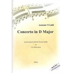 Vivaldi, Antonio: Konzert D-Dur : für Harfe und Flöten-Ensemble Partitur und Stimmen