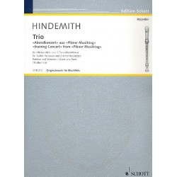 Hindemith, Paul: Trio : für 3 Blockflöten (ATT) Partitur und Stimmen