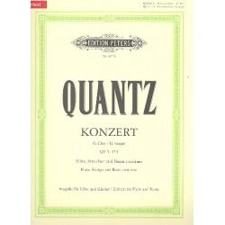 Quantz, Johann Joachim: Konzert G-Dur QV5,174 für Flöte, Streicher und Bc für Flöte und Klavier