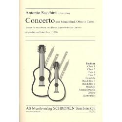 Sacchini, Antonio Maria Gaspar: As75211-04 Konzert : f├╝r 2 Oboen, 2 H├Ârner, Zupforchester und Cembalo Partitur