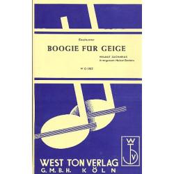 Zacharias, Helmut: Boogie f├╝r Geige : f├╝r Violine und Salonorchester Direktion und Stimmen