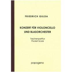 Gulda, Friedrich: Konzert für Violoncello und Blasorchester Studienpartitur