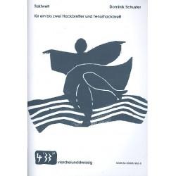 Schuster, Dominik: Taktwelt : für 1-2 Hackbretter und Tenorhackbrett (im Bassschlüssel) Spielpartitur