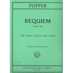 Popper, David: Requiem op.66 for 3 Cellos and Orchestra : for 3 cellos and piano score and parts