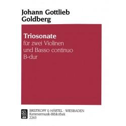 Goldberg, Johann Gottlieb: Triosonate B-Dur : für 2 Violinen und Bc