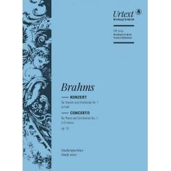 Brahms, Johannes: Konzert d-Moll Nr.1 op.15 für Klavier und Orchester Studienpartitur