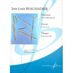 Beaumadier, Jean Louis: Exercises : pour la flute piccolo