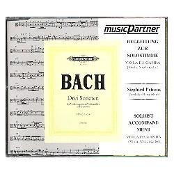 Bach, Johann Sebastian: 3 Sonaten für Viola da gamba (Viola, Violoncello) und Cembalo : CD mit der Begleitung zur Solostimme