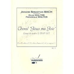 Bach, Johann Sebastian: Choral Jesus ma joie BWV227 : pour 2 hautbois, 2 hautbois d'amour et cor anglais partition et parties