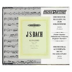 Bach, Johann Sebastian: Konzert c-Moll BWV1060 für Violine, Oboe und Klavier : CD mit der Begleitung zur Solostimme