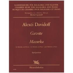 Davidov, Aleksei: Gavotte und Mazurka : für Balalaika