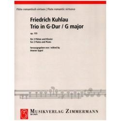 Kuhlau, Friedrich Daniel Rudolph: Trio G-Dur op.119 : für 2 Flöten und Klavier