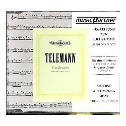 Telemann, Georg Philipp: 4 Sonaten für Altblockflöte und BC : CD mit der Begleitung zur Soloflöte