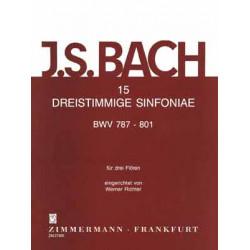 Bach, Johann Sebastian: 15 dreistimmige Sinfonien BWV787-801 : für 3 Flöten