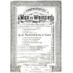 Weinzierl, Max: Nachtstück op.34 : für 4 Violen (3 Violen und Violoncello) oder Streichquartett Partitur und 4 Stimmen