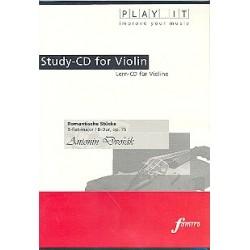 Dvorák, Antonín: Romantische Stücke für Violine und Klavier : Playalong-CD