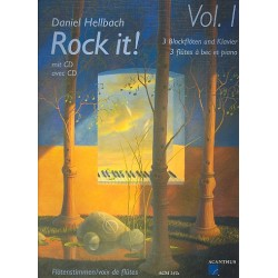 Hellbach, Daniel: Rock it : für 3 Blockflöten (+CD) Partitur