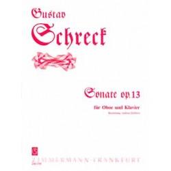 Schreck, Gustav: Sonate op.13 : für Oboe und Klavier