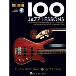 Needleman, Josh: 100 Jazz Lessons (+audio access) : for bass guitar/tab
