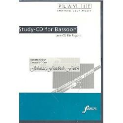 Fasch, Johann Friedrich: Sonate C-Dur für Fagott und Cembalo : Playalong-CD