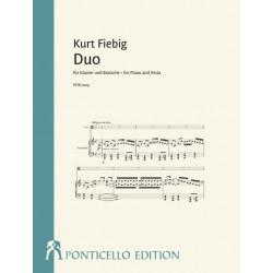 Fiebig, Kurt: Duo für Klavier und Bratsche für Viola und Klavier