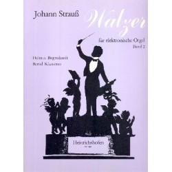 Strauß, Johann (Sohn): WALZER : FUER ELEKTRONISCHE ORGEL : BAND 2 BOGENHARDT, HELMUT, ED