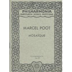 Poot, Marcel: Mosaique : für 8 Holzbläser Studienpartitur