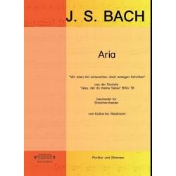 Bach, Johann Sebastian: Wir eilen mit schwachen doch emsigen Schritten BWV78 : für Streichorchester Partitur und Stimmen