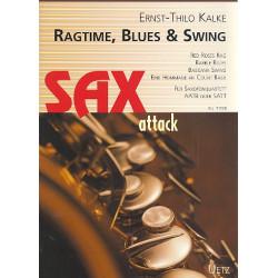 Kalke, Ernst-Thilo: Ragtime, Blues and Swing : für 4 Saxophone (AATBar/SATT) Partitur und Stimmen
