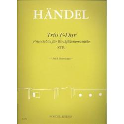 Händel, Georg Friedrich: Trio F-Dur : für Blockflöten- ensemble (STB) Partitur und Stimmen