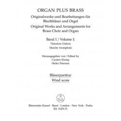 Dubois, Francois Clement Th├®odore: Marche triomphale : f├╝r Orgel und Blechbl├ñser (Posaunenchor) Bl├ñserpartitur in C