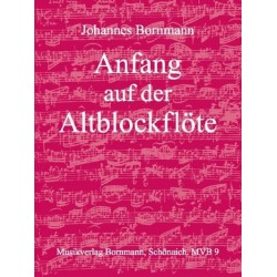 Bornmann, Johannes: Anfang auf der Altblockflöte