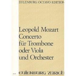 Mozart, Leopold: Konzert D-Dur für Posaune (Viola) und Orchester Partitur