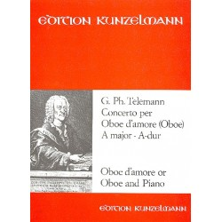Telemann, Georg Philipp: Konzert A-Dur für Oboe d'amore und Orchester : für Oboe d'amore und Klavier
