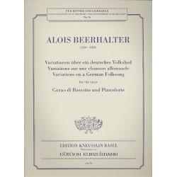 Variationen ├╝ber ein deutsches Volkslied : f├╝r Bassetthorn und Klavier