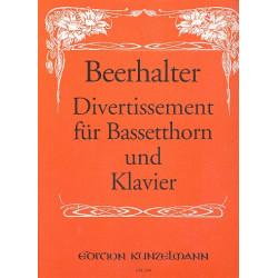 Beerhalter, Alois: Divertissement : f├╝r Bassetthorn und Klavier