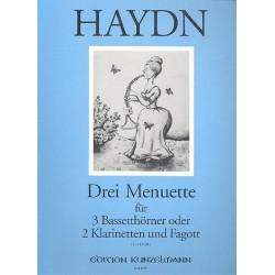 Haydn, Franz Joseph: 3 Menuette : für 3 Bassetthörner (oder 2 Klarinetten und Fagott) stimmen