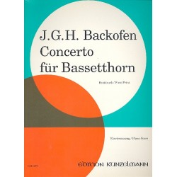 Backofen, Johann Georg Heinrich: Concerto f├╝r Bassetthorn und Orchester : f├╝r Bassetthorn und Klavier
