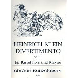 Klein, Heinrich: Divertimento op.10 : f├╝r Bassetthorn und Klavier