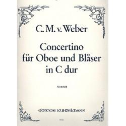 Weber, Carl Maria von: Concertino C-Dur : für Oboe, Bläser und Kontrabaß, Stimmen (ohne Solooboenstimme)